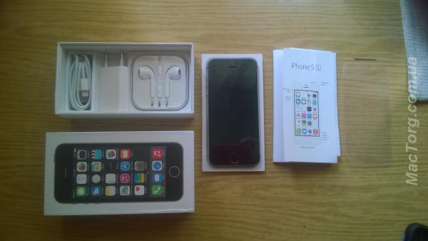 Продам IPhone 5s space gray 16 гб НЕВЕРЛОК .. Донецк