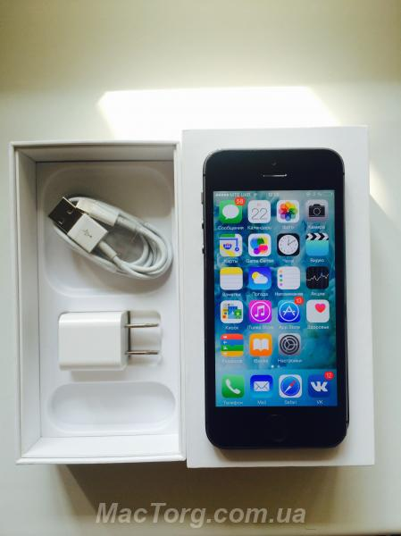 Продам IPhone 5s 16gb space gray neverlock. Сумы